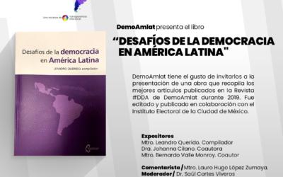 """DemoAmlat presenta el libro """"Desafíos de la Democracia en América latina"""" junto a la Universidad Veracruzana este 9 de septiembre"""