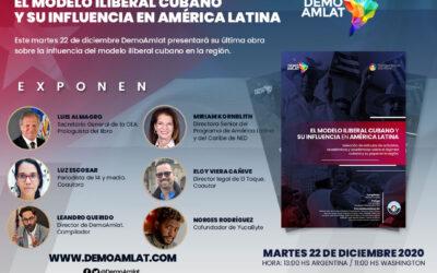 """DemoAmlat presenta su libro """"El modelo iliberal cubano y su influencia en América latina"""""""